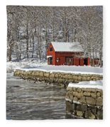 On The River Fleece Blanket