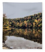 On The River Two Fleece Blanket