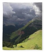 On The Road To Crystal Lake Fleece Blanket