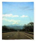 On The Road To Mount Hood Fleece Blanket