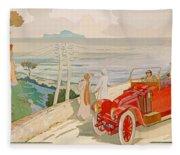 On The Road To Naples Fleece Blanket