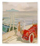 On The Road To Naples Fleece Blanket