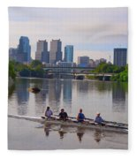 On The Schuylkill Fleece Blanket