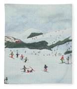 On The Slopes Fleece Blanket