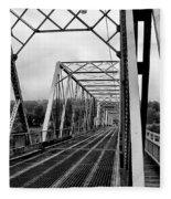 On The Washingtons Crossing Bridge Fleece Blanket