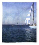 On The Water 3 - Venice Fleece Blanket