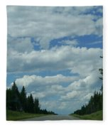 On The Way Again Fleece Blanket