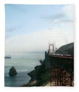 On The Way Back To San Francisco Fleece Blanket