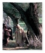 On The Way To Gethsemane Fleece Blanket