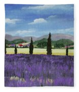 On The Way To Roussillon Fleece Blanket