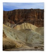 On The Way To Sunday Services Red Cathedral In Death Valley National Park Fleece Blanket