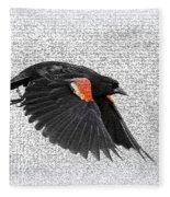 On The Wing - Red-winged Blackbird Fleece Blanket