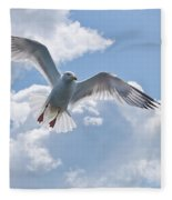 On The Wings Of A Gull Fleece Blanket