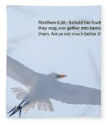 On The Wings Of Flight Fleece Blanket