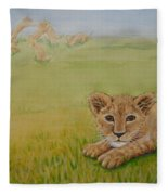 Once There Was A Lion Named Leo Fleece Blanket