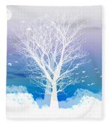Once Upon A Moon Lit Night... Fleece Blanket