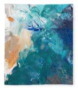 On A Summer Breeze- Contemporary Abstract Art Fleece Blanket