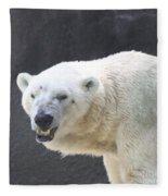 One Angry Polar Bear Fleece Blanket