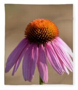 One Coneflower Fleece Blanket