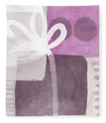 One Flower- Contemporary Painting Fleece Blanket