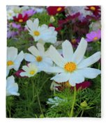 One Flower Stands Out Fleece Blanket