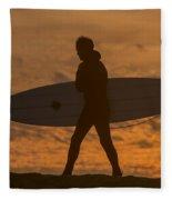 One Last Wave Fleece Blanket