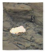 One Leaf Flowing Downstream Fleece Blanket