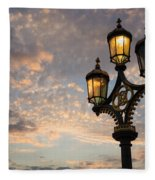 One Light Out - Westminster Bridge Streetlights - River Thames In London Uk Fleece Blanket