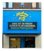 One Of Ten Great Streets In America Fleece Blanket