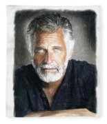 One Of The Most Interesting Man In The World Fleece Blanket