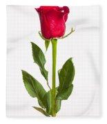One Red Rose Fleece Blanket