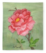 One Rose Fleece Blanket