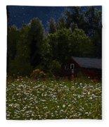 One Starry Summer Night Fleece Blanket