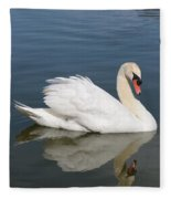One Swan Fleece Blanket