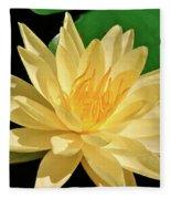 One Water Lily  Fleece Blanket