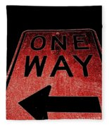 One Way Fleece Blanket