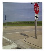 One Way Stop Fleece Blanket