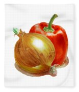 Onion And Red Pepper Fleece Blanket