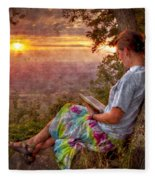Only The Heart May Know Fleece Blanket