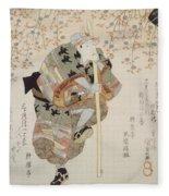 Onoe Kikugoro IIi As Shimbei Fleece Blanket