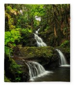 Onomea Falls Fleece Blanket