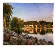 Onondaga Park Hiawatha Lake Fleece Blanket