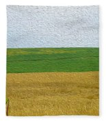 Ontario Farm In Landscape Mode Fleece Blanket