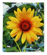 Onyx Store Sunflower Fleece Blanket