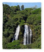 Opaekaa Falls In Kauai Fleece Blanket