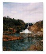 Dam At Raystown Lake Fleece Blanket