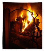 Open Fire Fleece Blanket