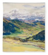 Open Valley. Dolomites Fleece Blanket
