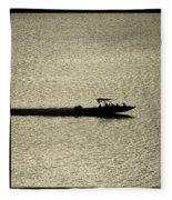 Open Waters Triptych Fleece Blanket