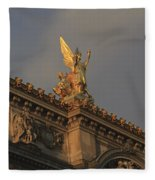 Opera Garnier In Paris France Fleece Blanket